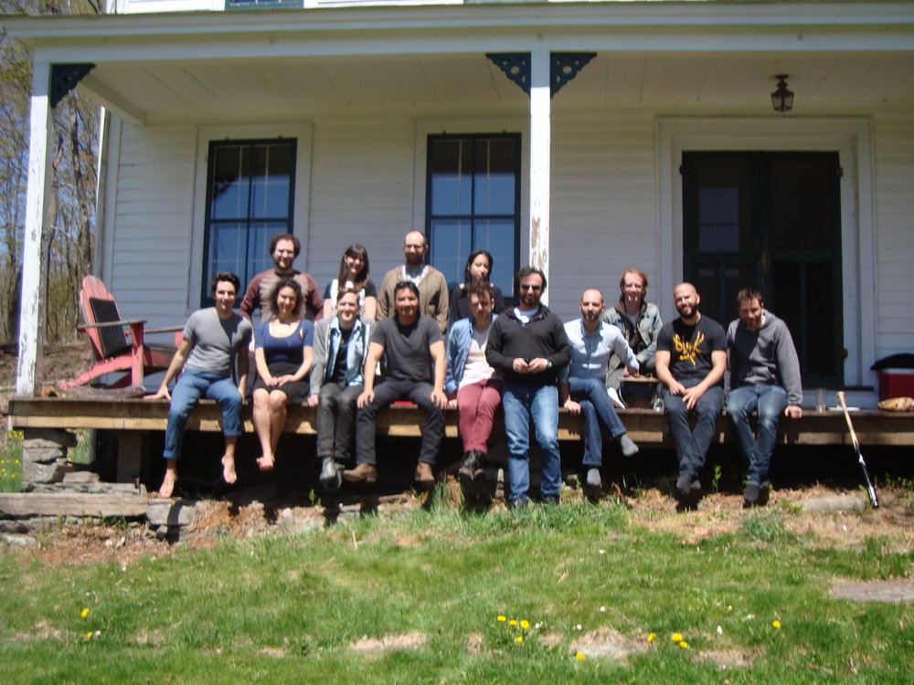 2013 fellows at Denniston Hill Artist Residency retreat.