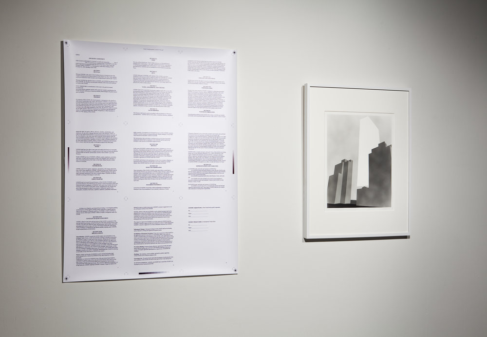 2011 fellow, Michael Cataldi's project on air rights, exhibited at the SculptureCenter, NYC in 2011.