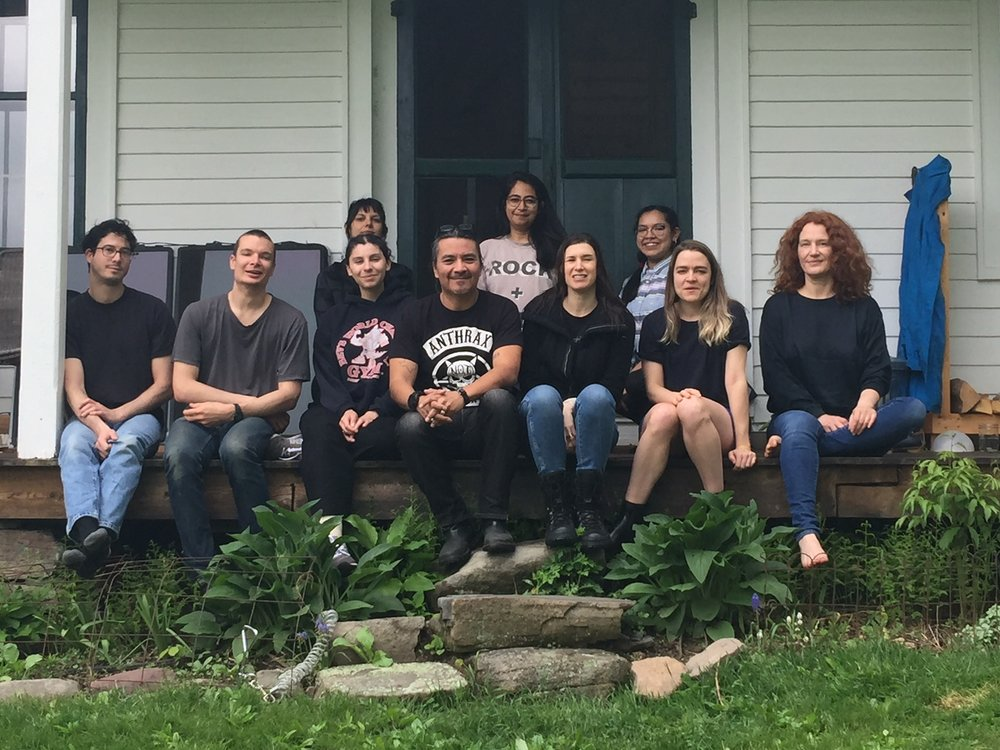 Spring 2018 Fellows and friends at Denniston Hill Artist Residency retreat. Not pictured are: Adam Liam Rose, Karen Gover, Pablo Montealegre, Apexa Patel, and Chris Rawson. We missed them!