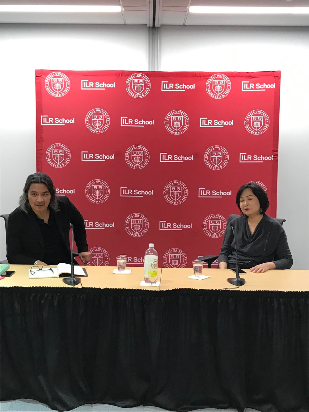 Joan Kee in conversation with Sergio Muñoz Sarmiento to celebrate the launch of  Models of Integrity: Art and Law in Post-Sixties America  by Joan Kee (February 2019). This event was co-sponsored by Cornell Law School.