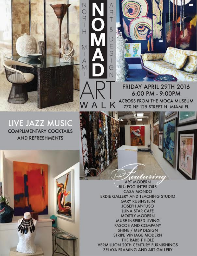 NOMAD ART WALK APRIL 29, 2016 @ 6pm — zelaya art framing