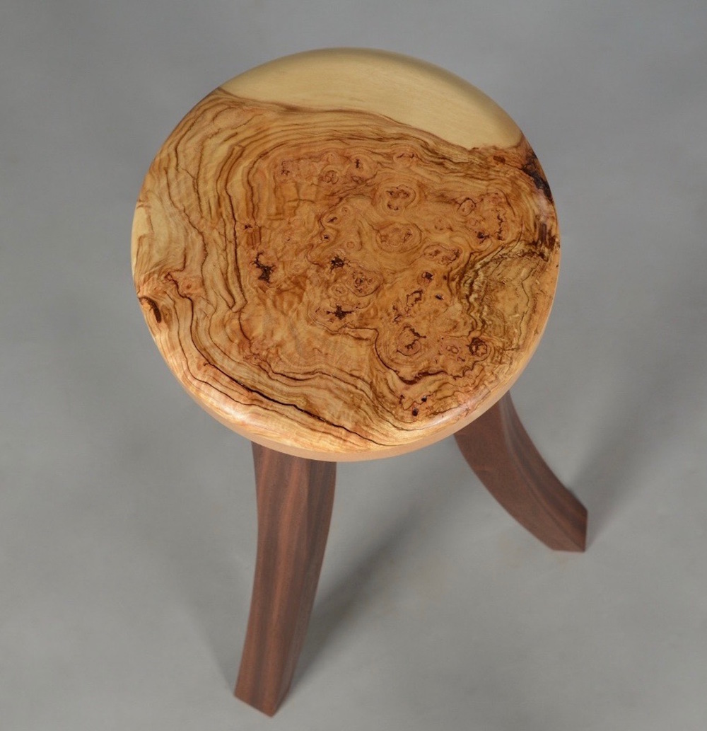 Maple Burl Showcase Table