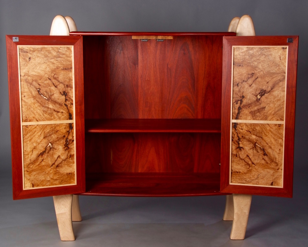 Maple Burl Cabinet