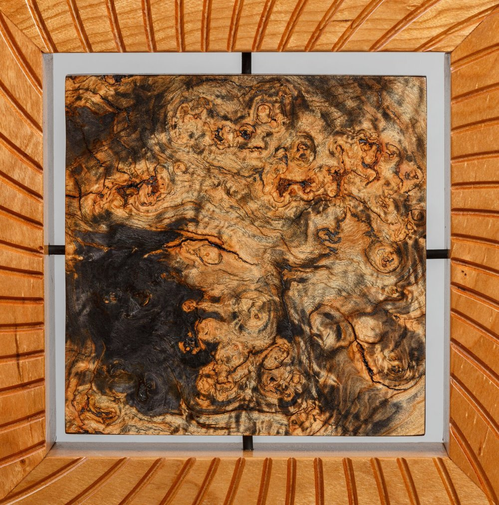 A shot of the detail involved with the toasted burl.