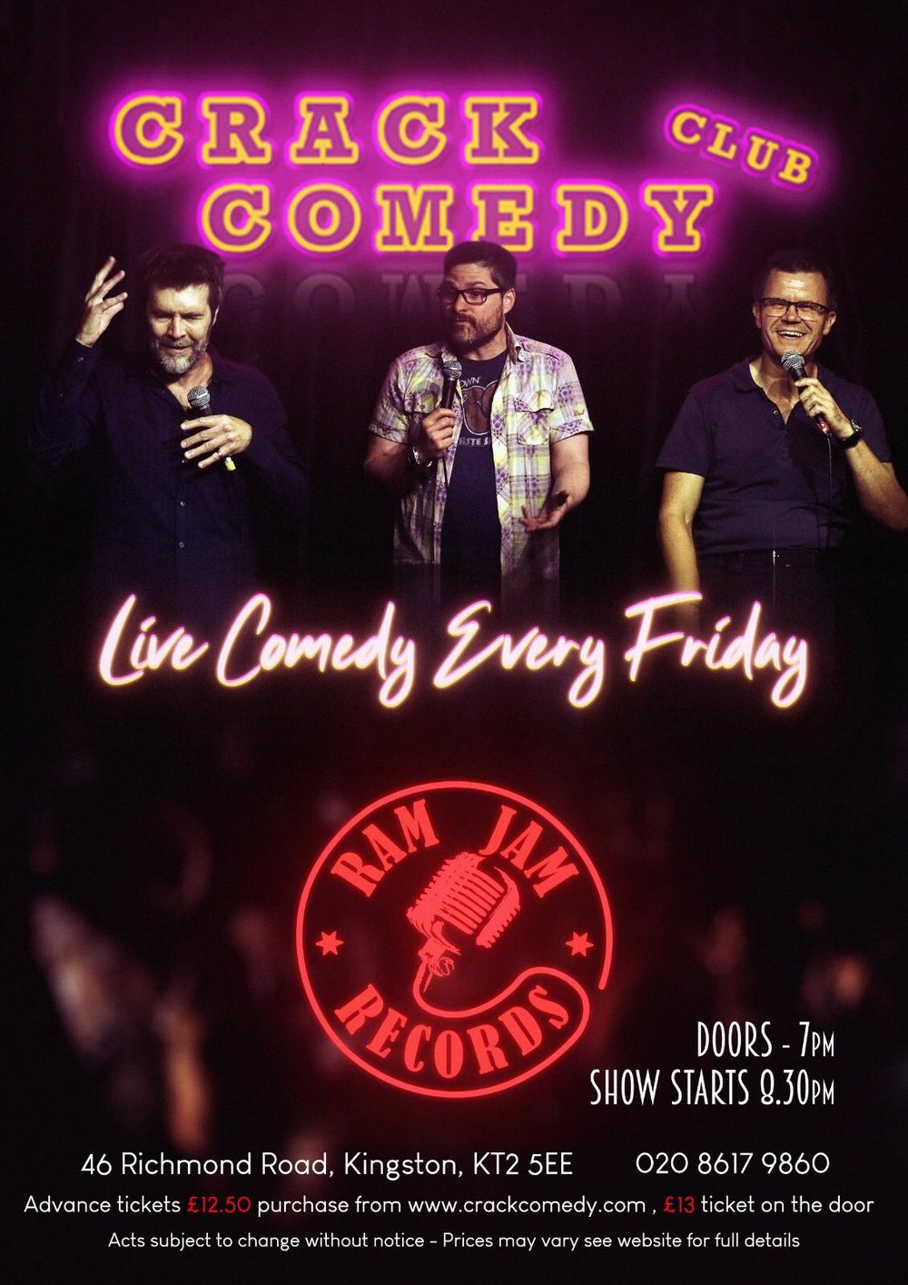 Every Friday Crack Comedy presents the best acts on the circuit. 8.30PM