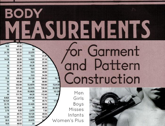 body measurement chart excel