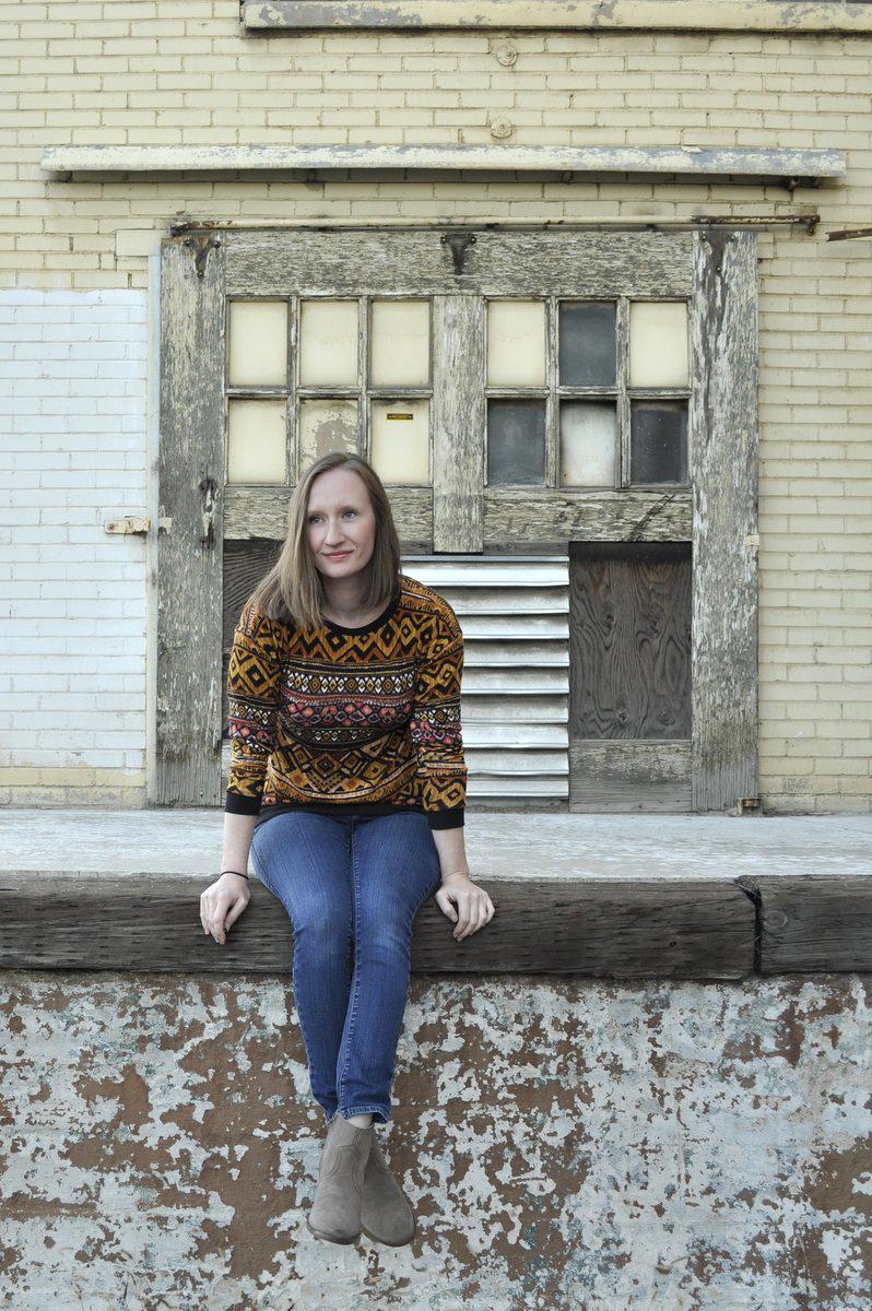Luxe Sweatshirt in Tribal Sweater Knit by Lauren Dahl