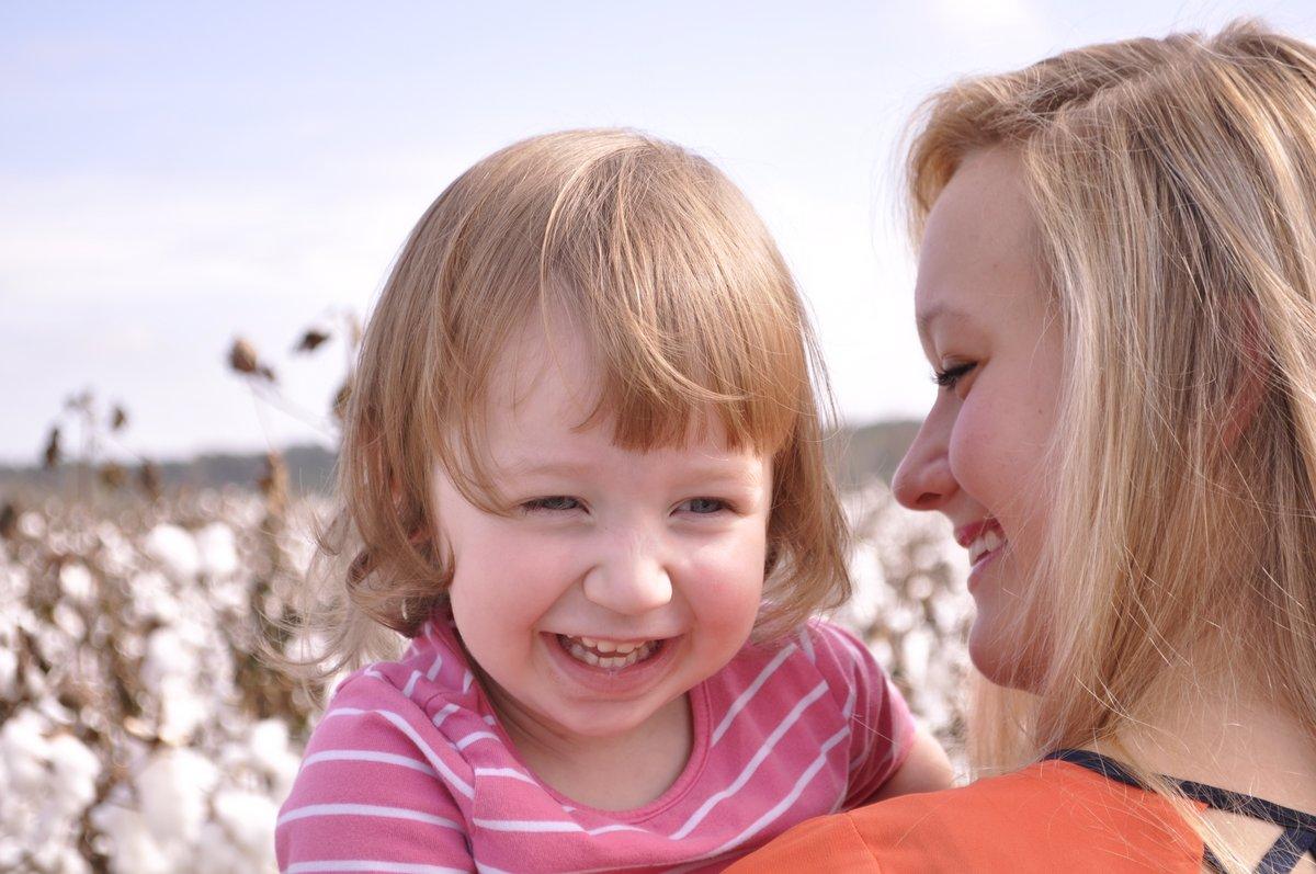Harper in a cotton field in Alabama