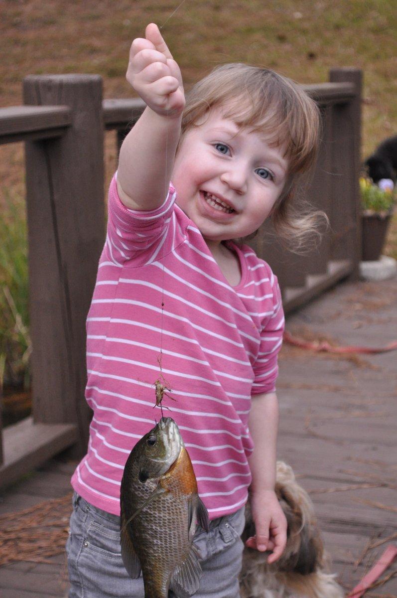 Harper's first fish