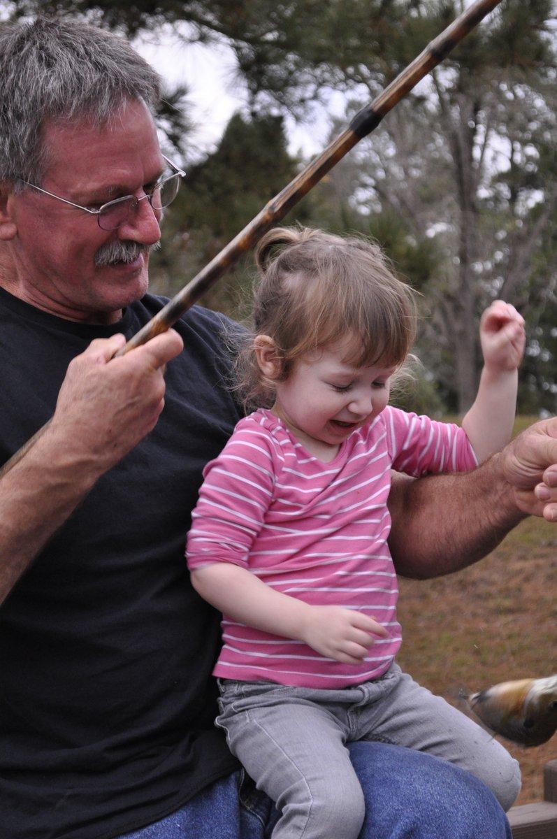 Harper fishing with grandpa Jim
