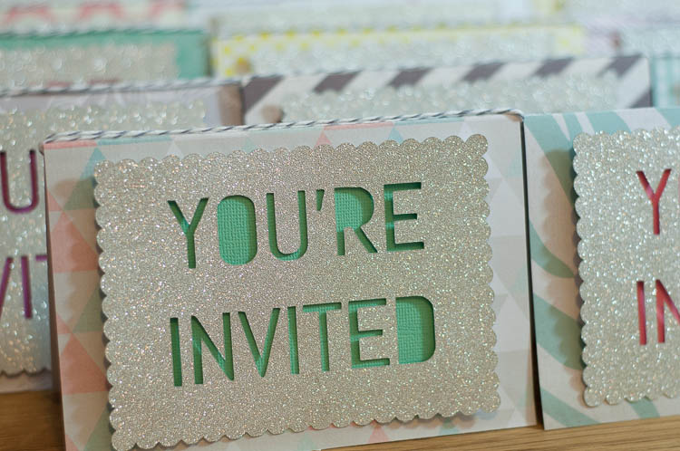 Harpers Birthday Party Invitations with Cricut Explore Baste Gather