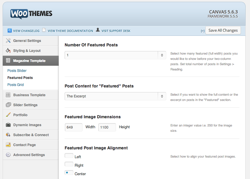 Setting Up Teasers or Excerpts in Woo Canvas for Wordpress
