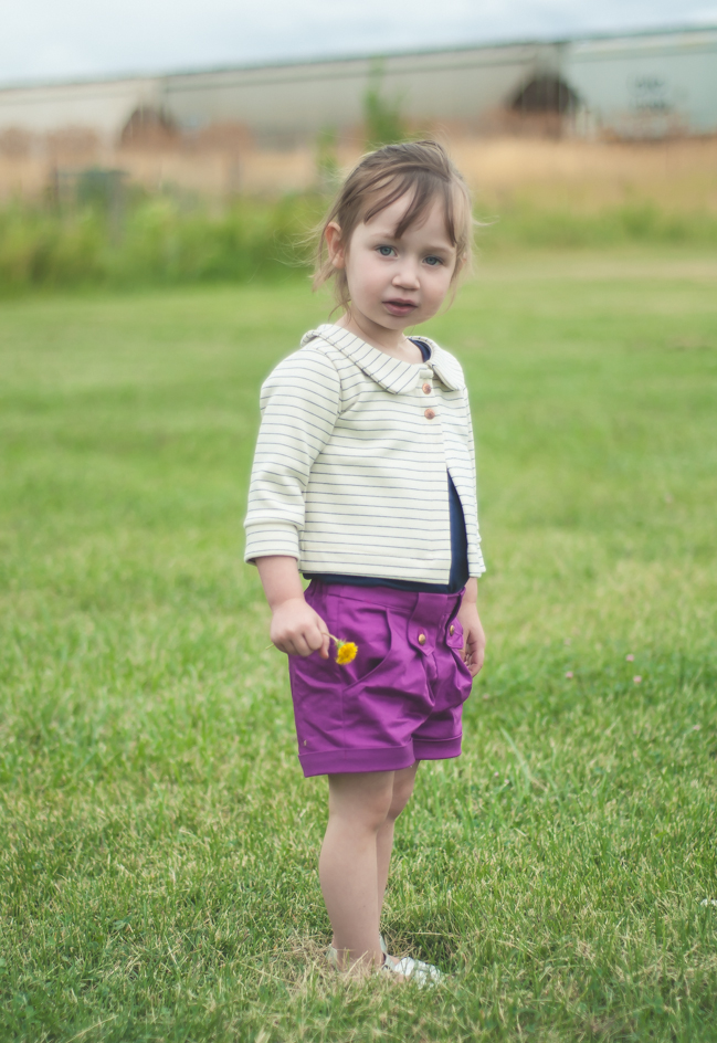 Willow and Co Patterns Aster Cardigan Clover Shorts