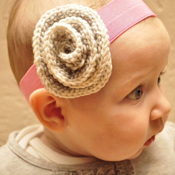 Free Knitting Pattern Headband Flower Baste Gather