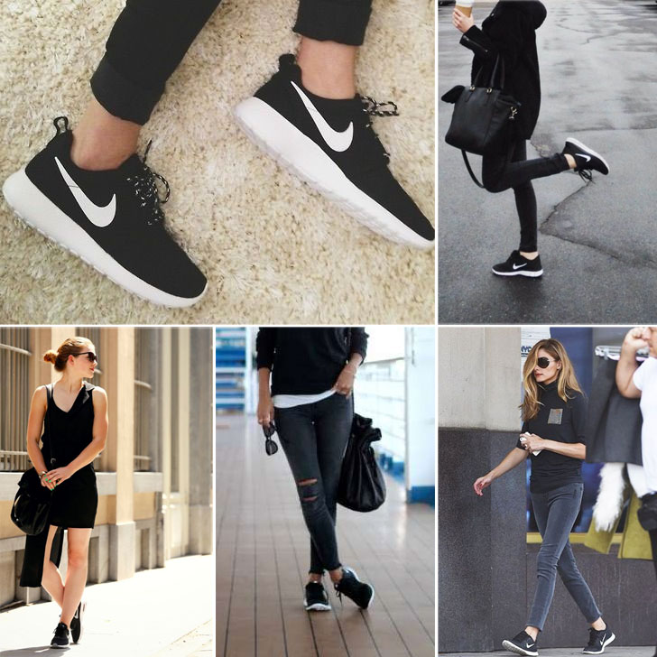 Black and White Nike Sneakers Outfit