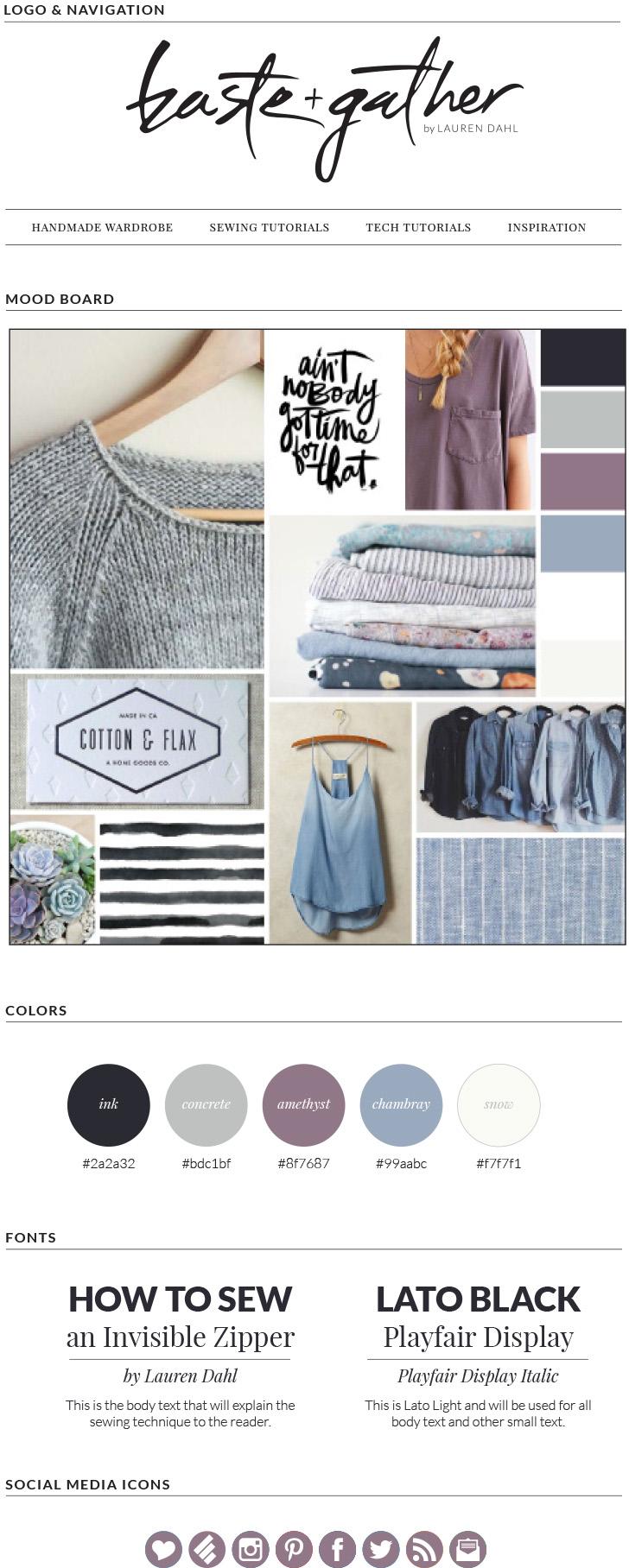 Baste and Gather Blog Mood Board