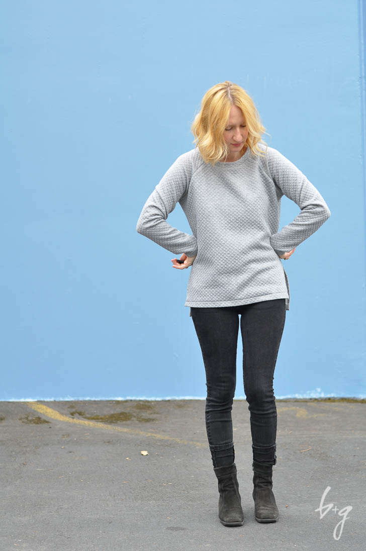 Quilted Side-Vent Linden Sweatshirt - Sewing Pattern by Grainline Studio