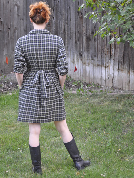flannel dress back