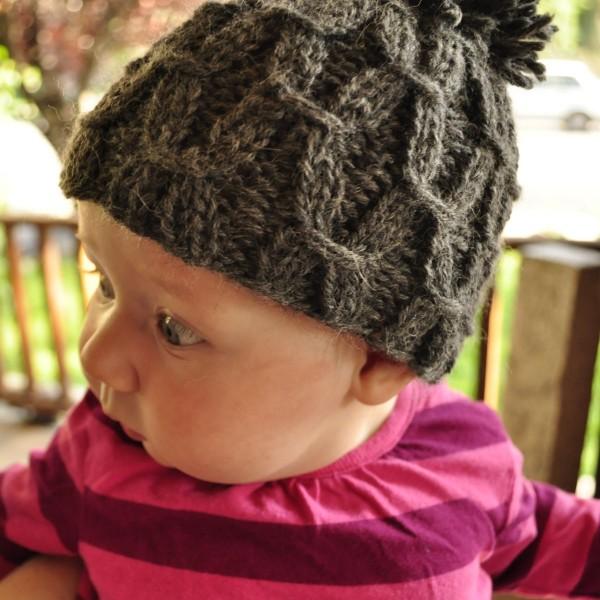 Free Knitting Pattern  Mini Waffel Hat — Baste + Gather c119b71e1e8