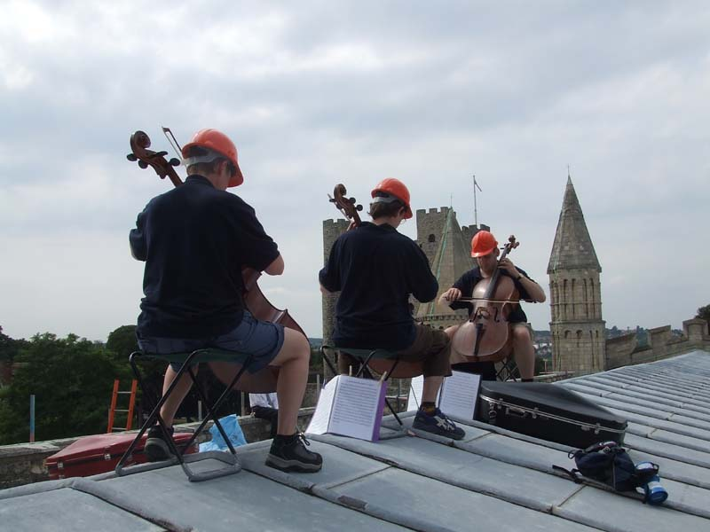 Rochester Cathedral roof