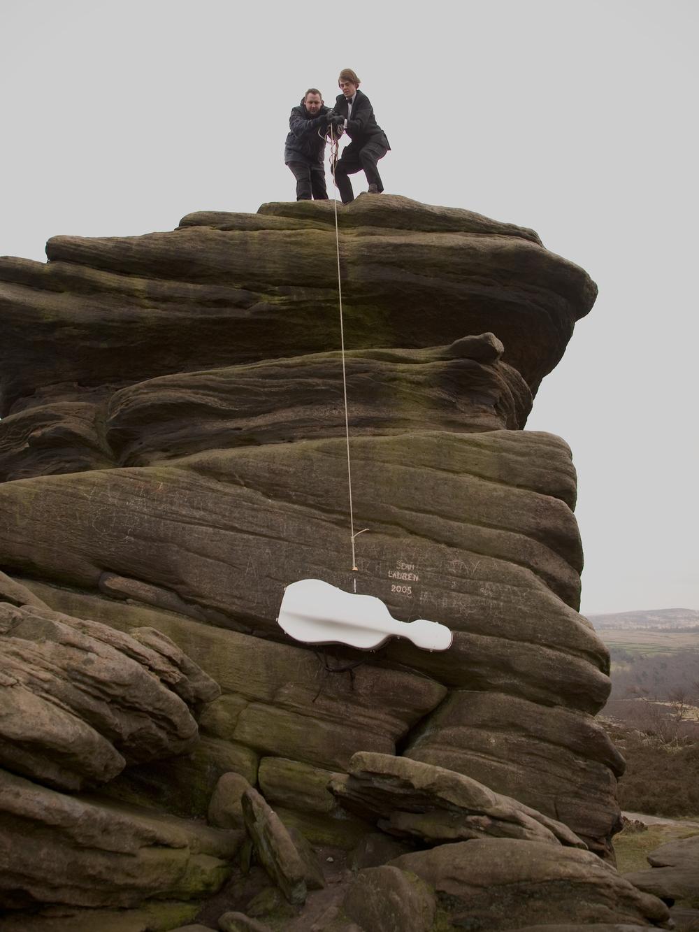 Hauling the White Cello