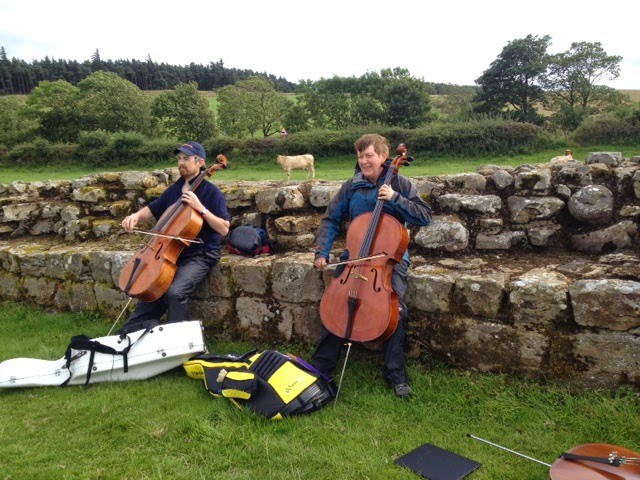 "Playing ""Wonderwall"" near Brocolitia Fort"