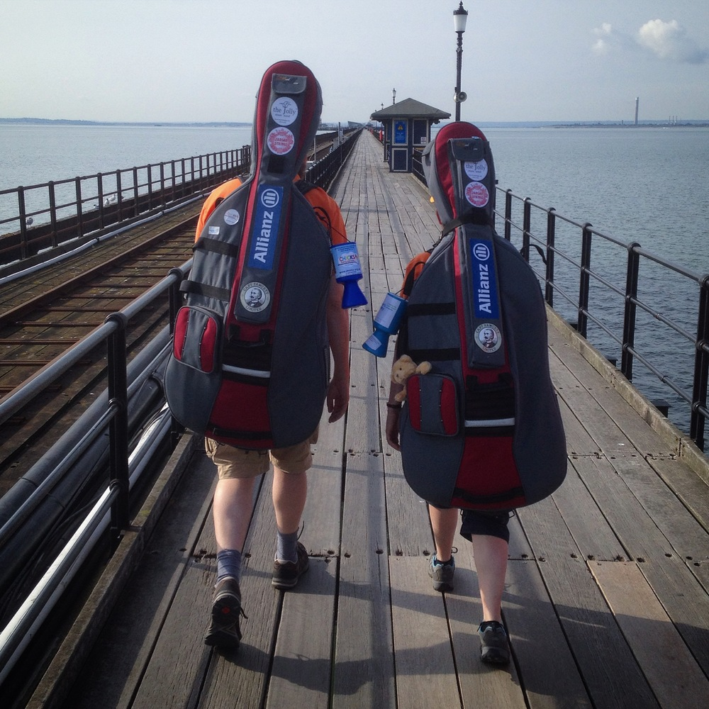 The Long Walk Up Southend Pier