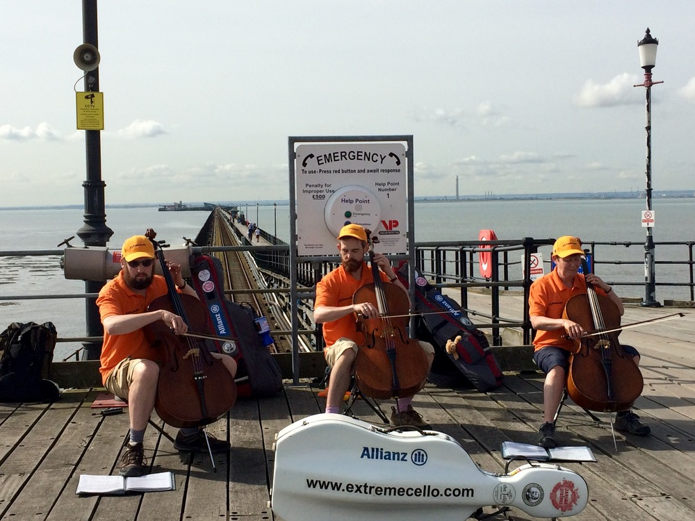 Playing on Southend Pier