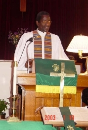 Rev. Gordon in the pulpit