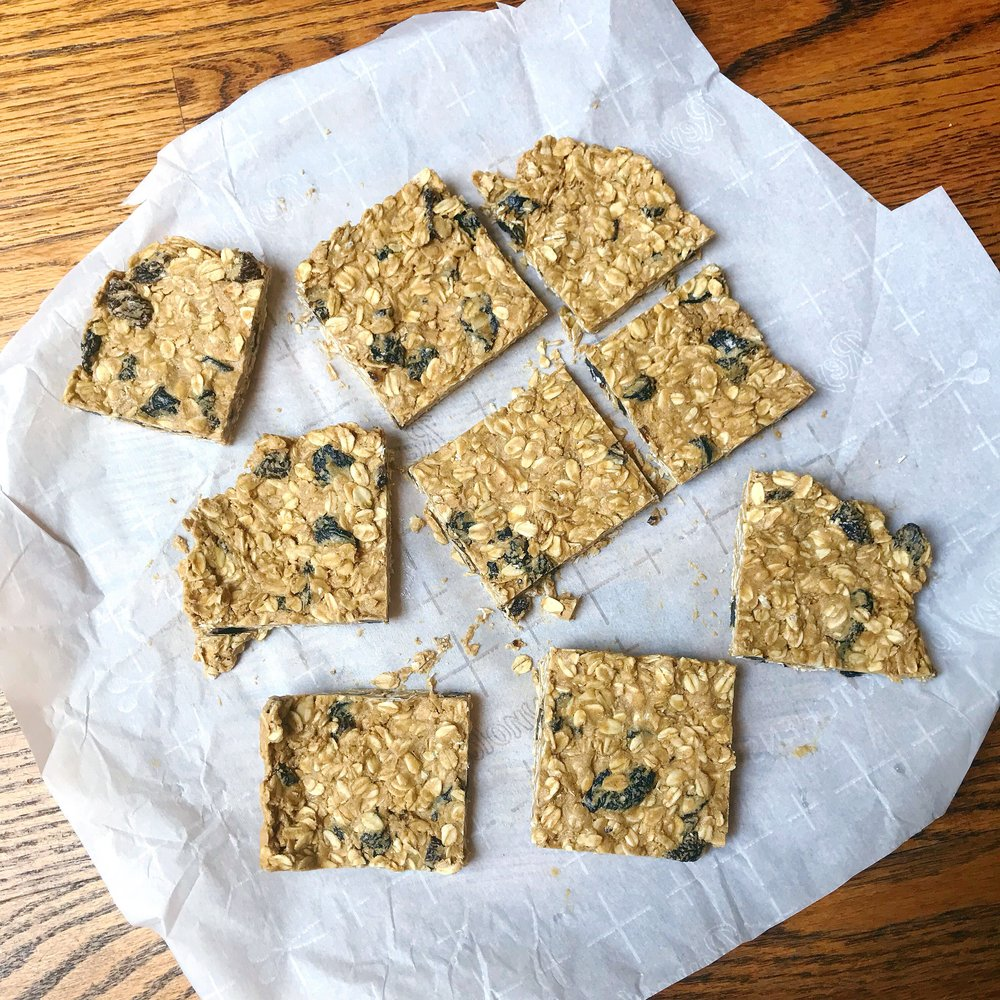 9.  Serve bars immediately or wrap, individually in plastic wrap and store in the freezer so that squares are ready to go as you need them!