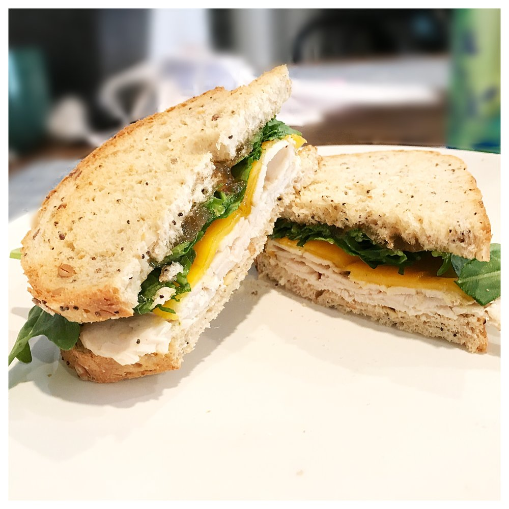 Get the recipe for my super simple  Fig & Cheddar Turkey Melt!