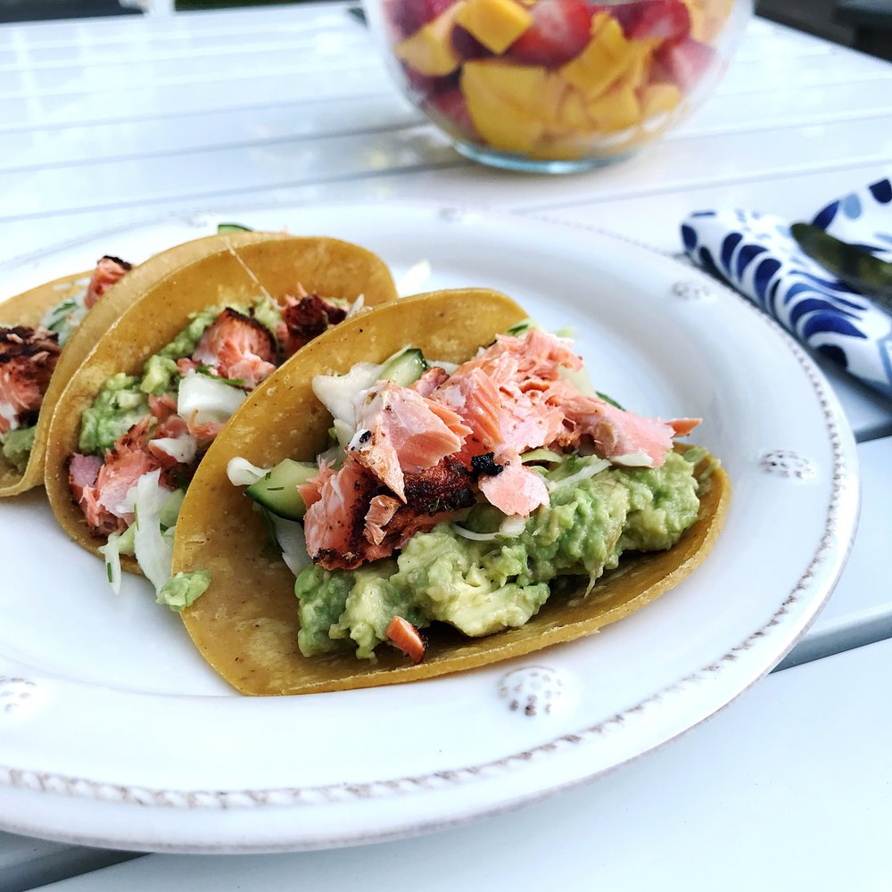 The Roasted Salmon Tacos by Ina Garten