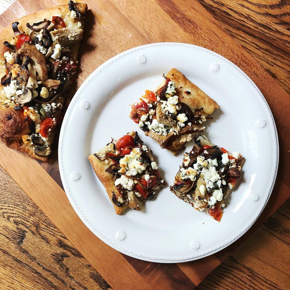 Goat Cheese Thyme Pizza.JPG