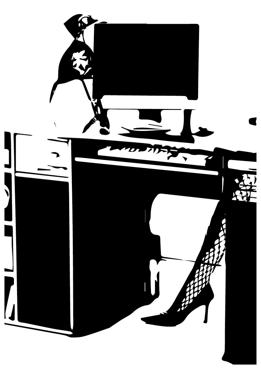 Wenn dir im Bundeshuus als Bürogummi d Arbet z luschtloos isch, Hebsch als jungi Sekretärin amme s Handy untre Tisch. Das syg kei Porno, nei, die Foti gieng nach Basel miess me see, Als Bewärbig für e Chefplatz bi dr BVB.