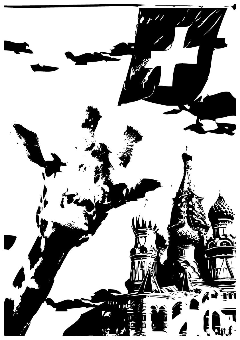 Wenn de Schwuul bisch, myydisch dunggli Gasse z Moskau in dr Nacht,   Und als Giraff wird um dr Zolli z Dänemark e Booge gmacht.   Als Schwoob kunsch nümm in d Schwyz in d Ferie, do findets kein me glatt,   Und mit em Auti faarsch niemols in Basler Innestadt.