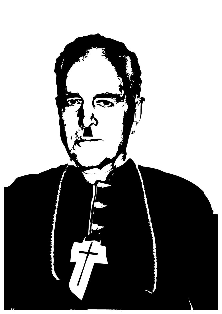 Dr Piusbrueder Williamson isch, was dr Farbton Bruun betrifft,   Sehr empfänglig, är liist d Bible bsunders gärn in Ruuneschrift.   Und wenn me hört, was uns dr Blocher nach em Stimme prophezeit,   Denn wärde bald 60% vo uns zue Bischöff gweit.