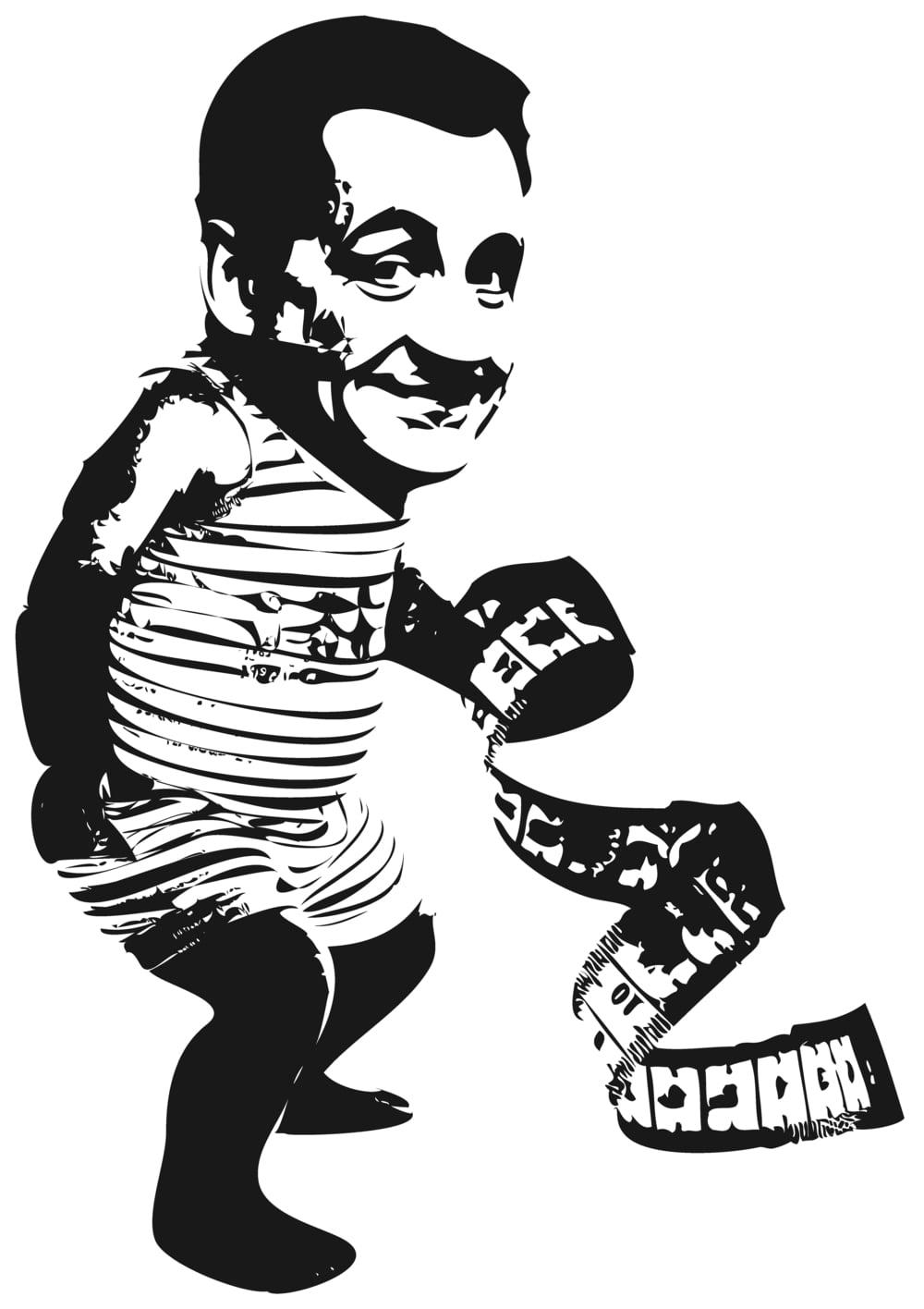 """Nach dr Geburt macht dr Sarkozy mit em Massband dr Verglyych,   Und jublet denne hocherfreut: """"Das Kind isch gleiner no als ich!""""   """"Du Dubel"""", seit do sini Carla, """"hesch vo Fyyngfüül jo kei Spuur,   Das isch doch kei Massband, das isch mini Naabelschnuer."""""""