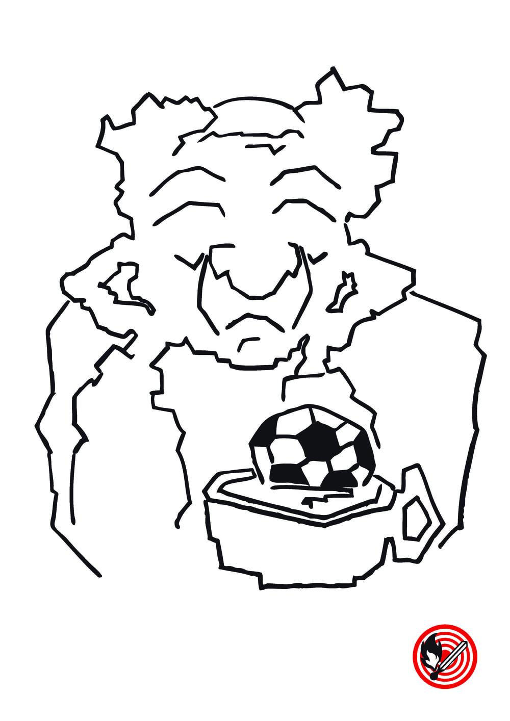 """""""Mit Balari"""", meint dr Kari """"fahr i nümm"""" und bstellt e Tee.   Dass das nyt nutzt, so meine mir, gseht me scho lang bim FCB.   Vor em Aapfiff dringgt dr Zubi bischbylswyys nie Alkohol,   Und trotzdäm hett dä kurz druffaaben immer ein im Gool."""