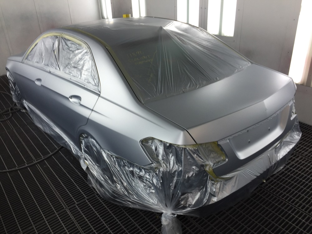2014 Mercedes Benz E350 complete refinish.