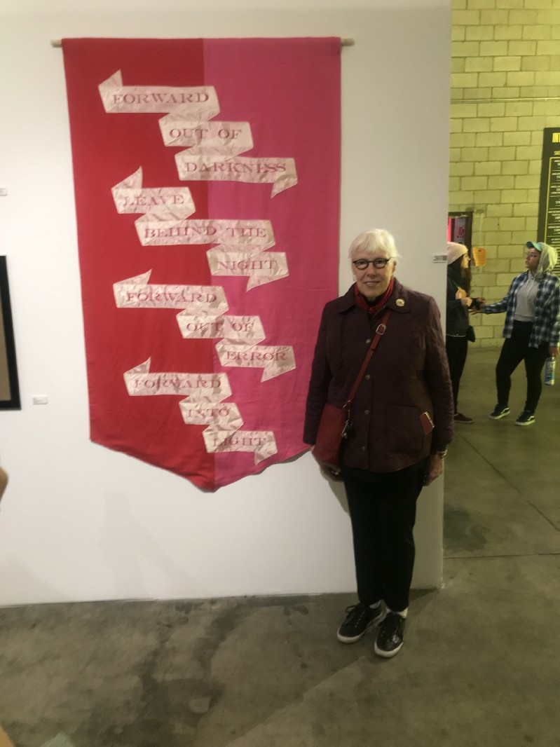 """Zoe Nicholson & """"the banner""""—Into Action, A Celebration of Community Power & Cultural Resistance, Jan 2018"""