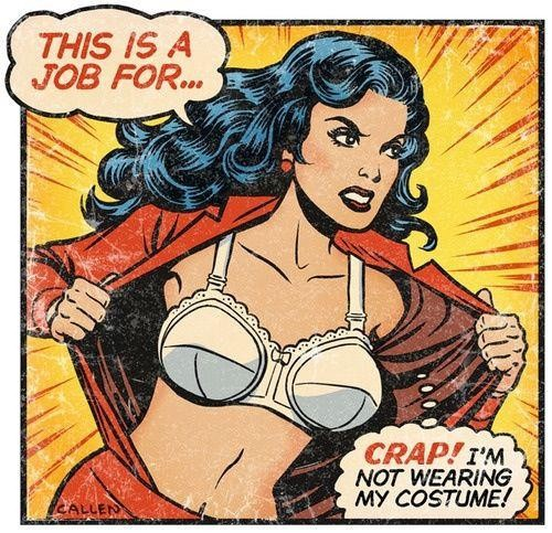 Even Wonder Women forgets who she is sometimes… comic loving used by the brilliant Kerry Callen