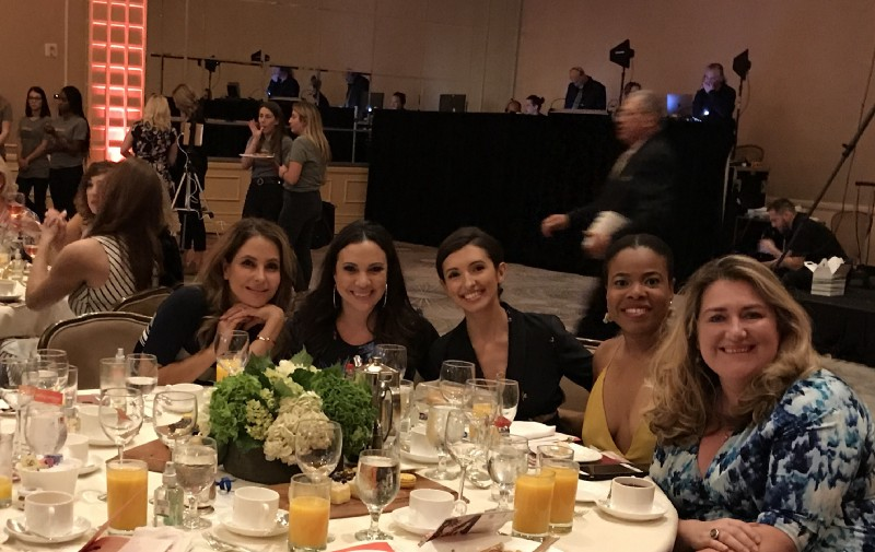 A table full of loveliness, Lisa LoCicero, Gloria Calderon Kellett, India de Beaufort, Ariel Grant and me.