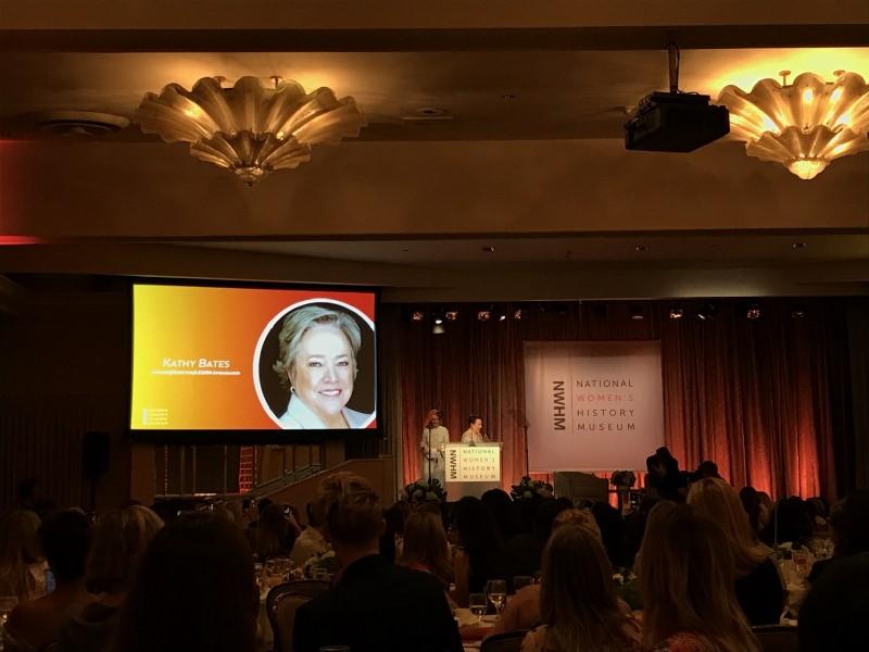 Kathy Bates, receiving her award from dear friend and AHS co-star Sarah Paulson
