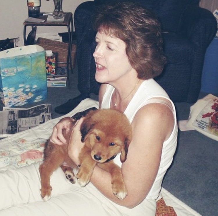 My mom with Romeo, June 2004