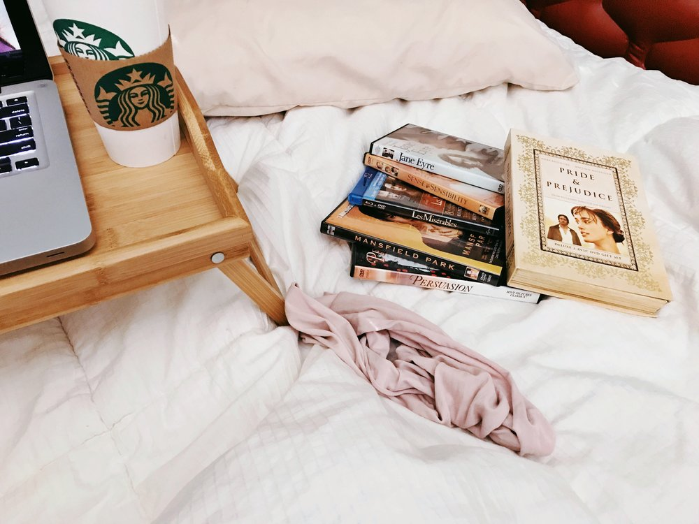Recovery looked a lot like this. Chai & Jane Austen are all it takes, really.