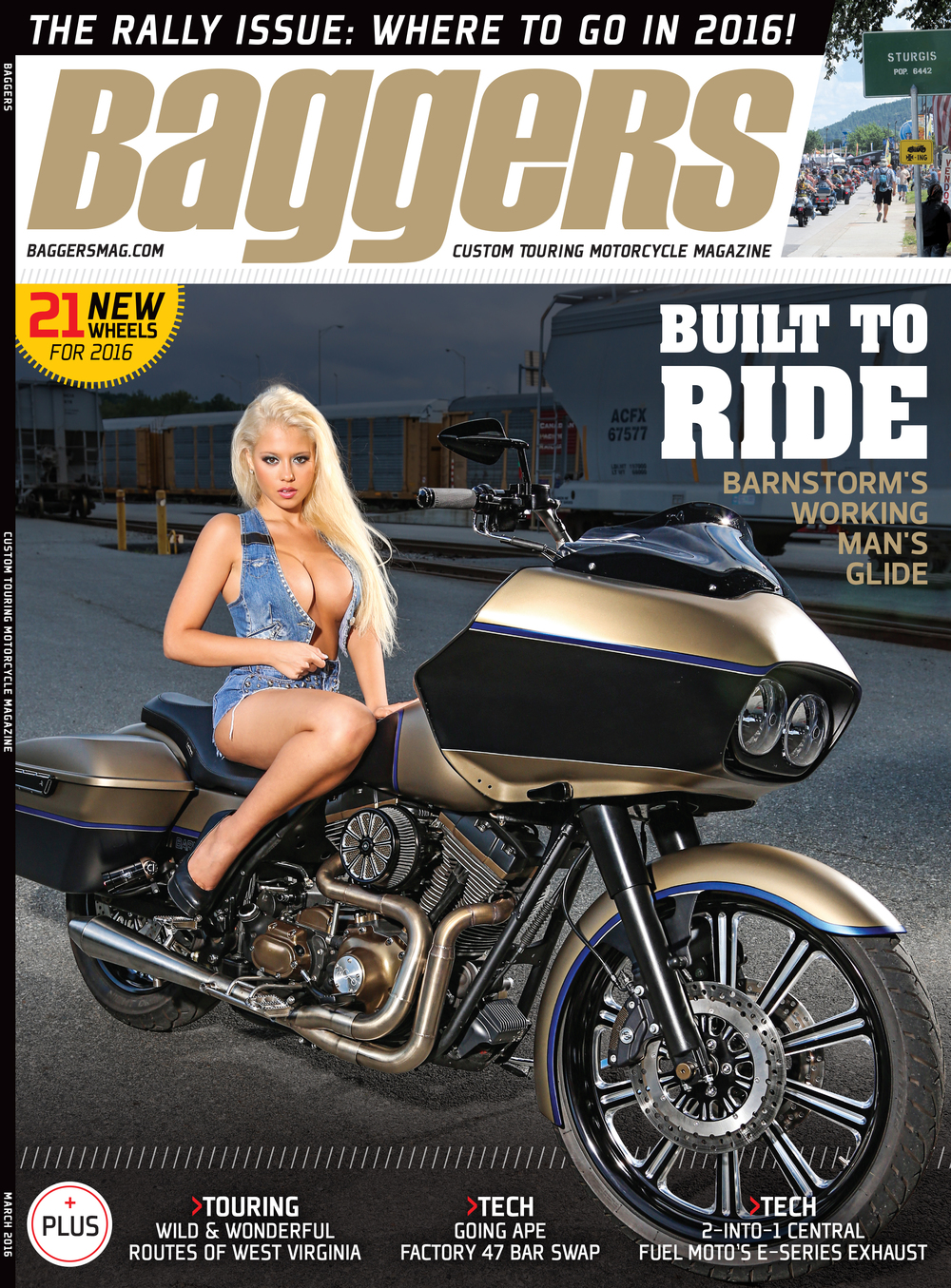Cover of the March 2016 issue of Baggers Magazine available on newsstands nationwide