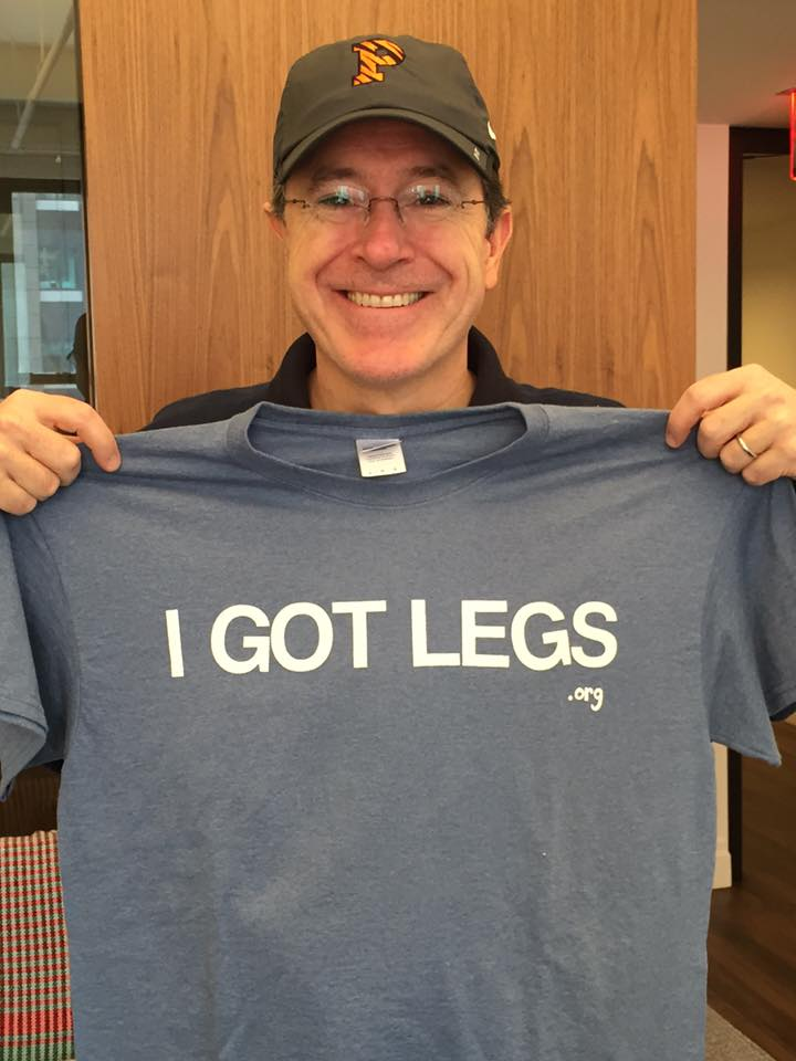 Stephen Colbert's got legs!