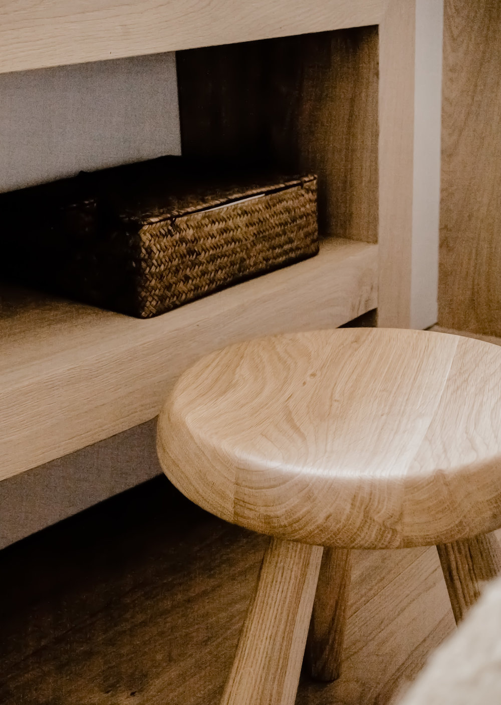 Berger Stool - Oak Residence by Quiet Studios