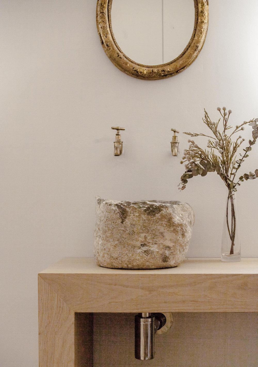 Bespoke waskbasin in Oak Residence by Quiet Studios