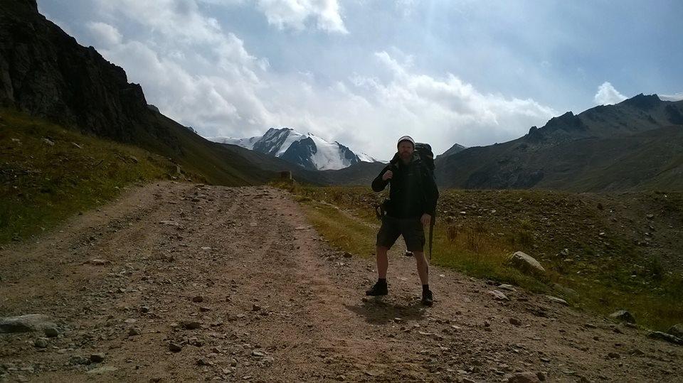 Ruadhan hiking mountain ranges in Kazakhstan